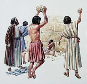 The stoning of Stephen (Acts 7)