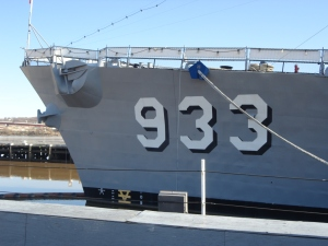 The U.S.S. Barry, a Vietnam era Naval destroyer docked at the Washington Navy Yard