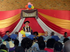 The chapel of NTCCA was full as Greg addressed graduates, their families, and friends