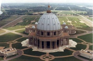 Basilica of Our Lady of Peace, in Yamoussoukro, Côte d'Ivoire