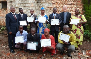 Graduates of the ITN Diploma in Theology program, Bukavu, DRC