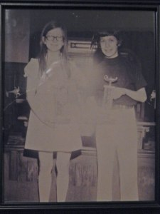 April 1975 at the Upstate NY District Junior Quiz - Amy and I finished second and first place