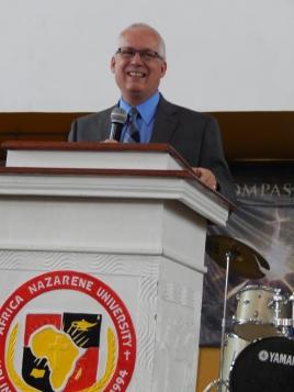 Greg preaching